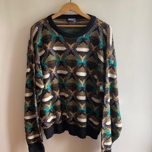 Todays News Vintage graphics knit sweater size M